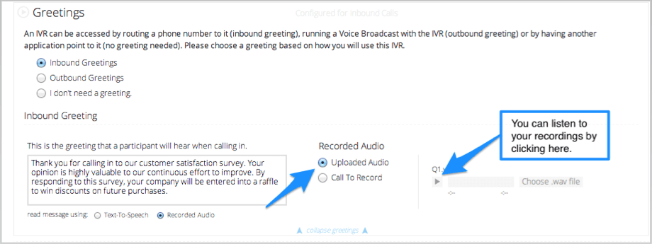 Ivr interactive voice response jumpstart dialogtech if you need to re record any question simply change the question back to call to record and click the call to record button again m4hsunfo