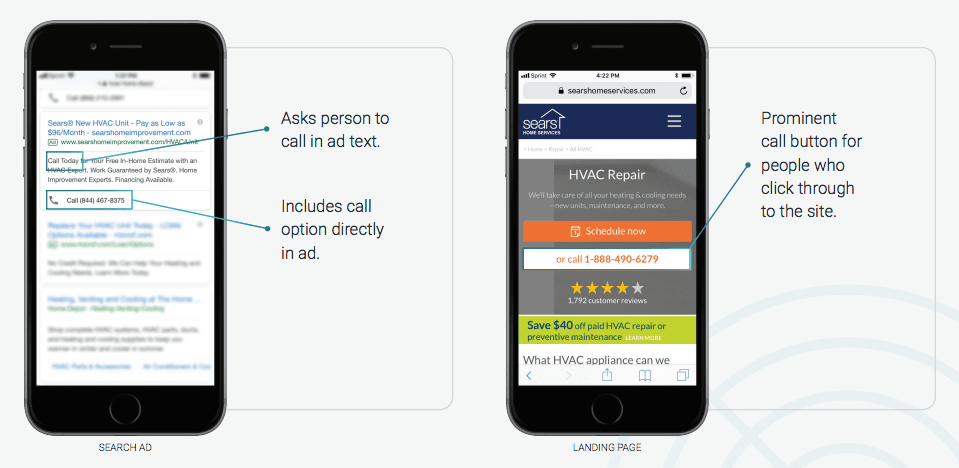 Optimize search ads and landing page for calls- DialogTech