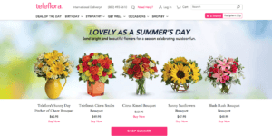 Teleflora uses AI to personalize product recommendations and build customer loyalty.